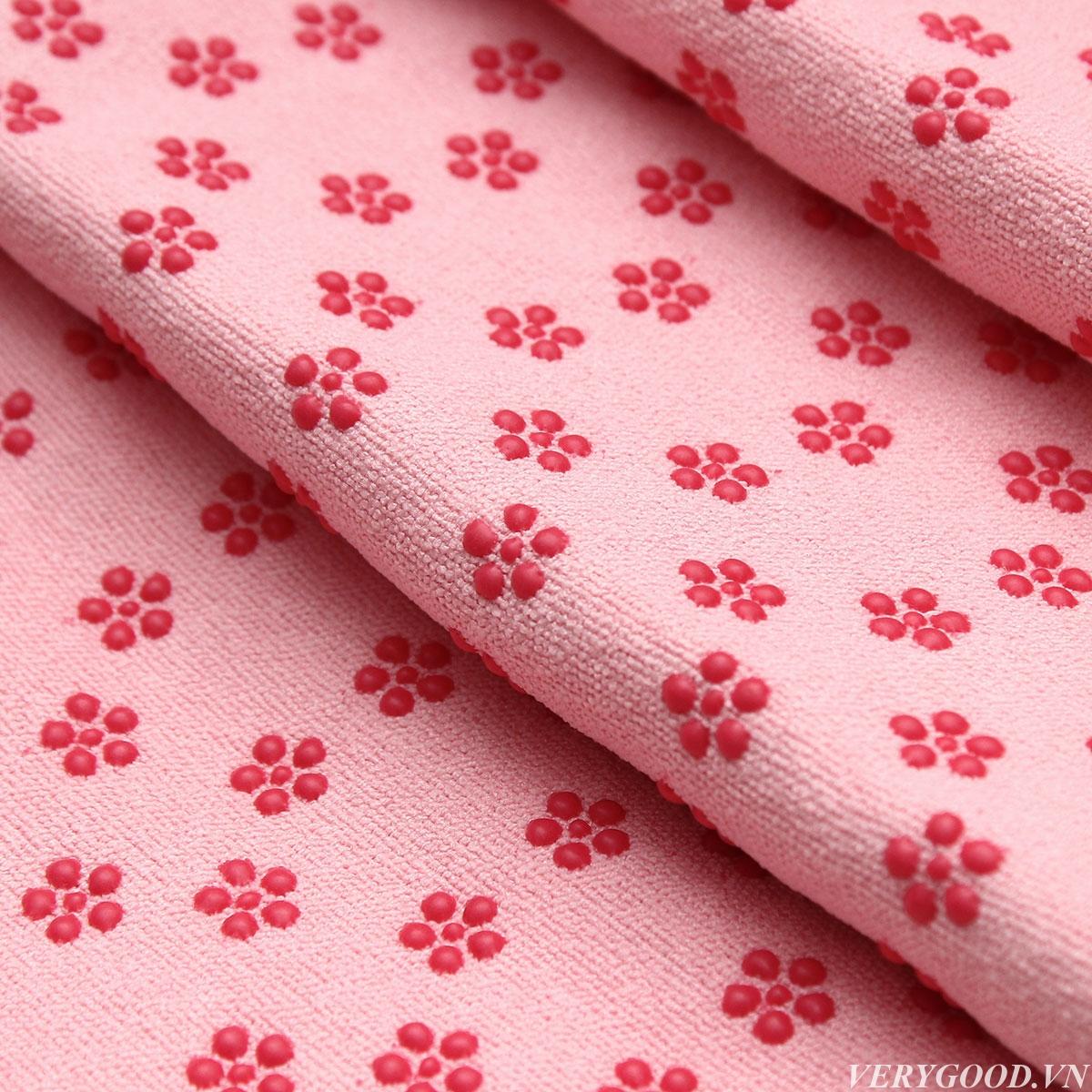 Khăn trải thảm tập Yoga hồng tươi