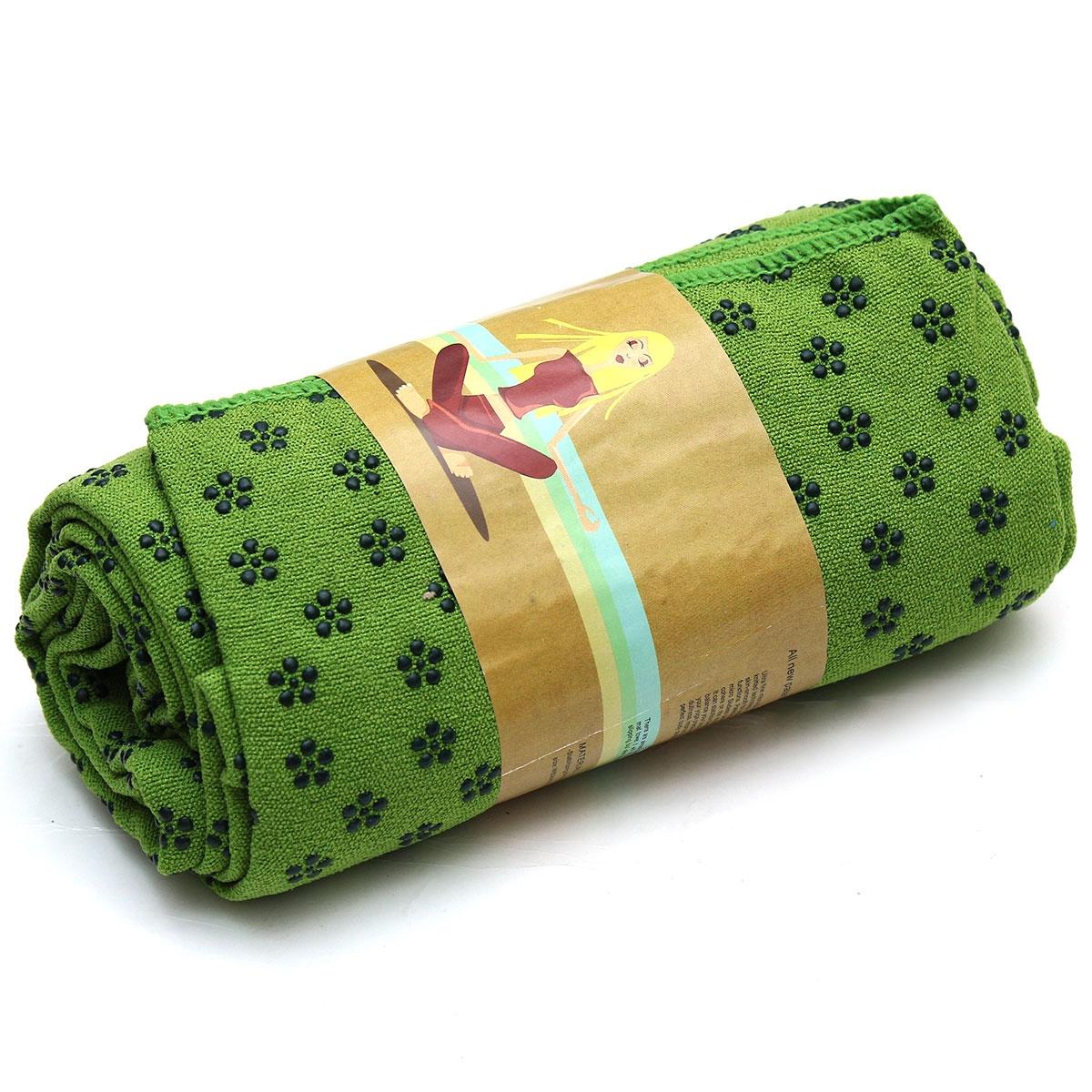 Khăn trải thảm tập Yoga xanh lá